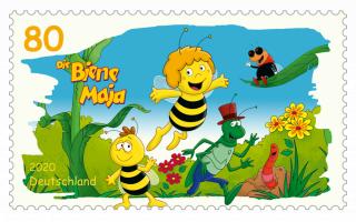 """Briefmarken für """"Die Biene Maja"""" und """"Wickie"""""""