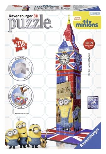 3D Puzzle Big Ben Minions_Produktbild
