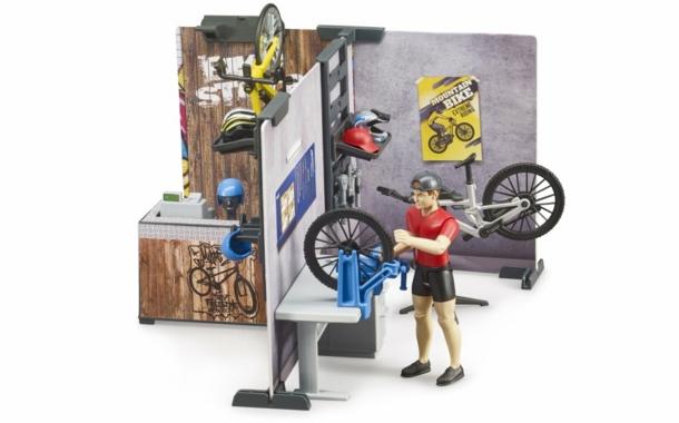 """""""bworld""""-Fahrradshop mit Werkstatt von Bruder"""
