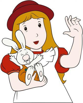 Alice mit Kaninchen