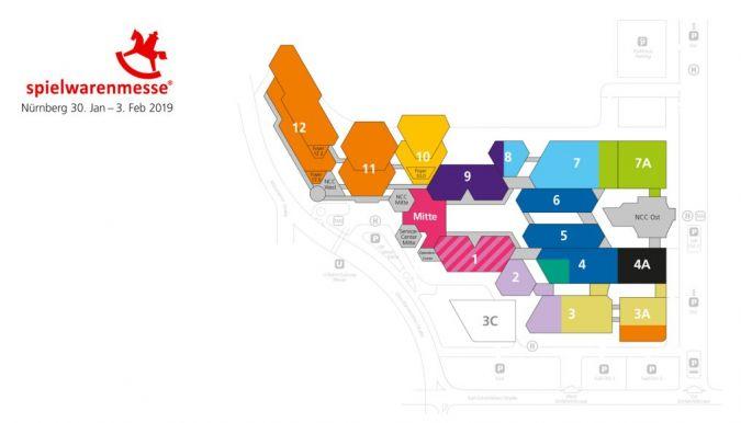 Hallenplan Spielwarenmesse 2019
